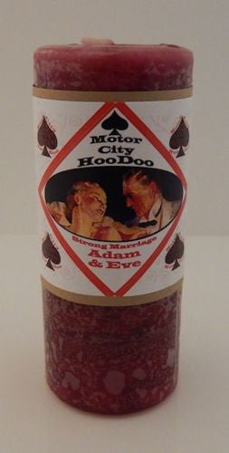 Adam & Eve CANDLE Magick COVENTRY Creations Hoo Doo Deepen Connection Commitment