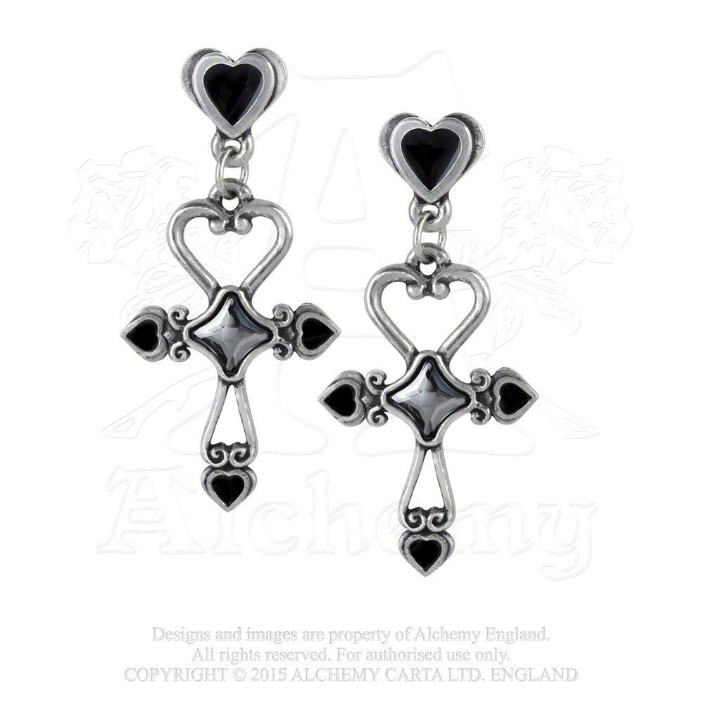 Egyptian ankh earrings alchemy gothic amourankh heart ankh egyptian ankh earrings alchemy gothic amourankh heart ankh immortal love earrings buycottarizona Images