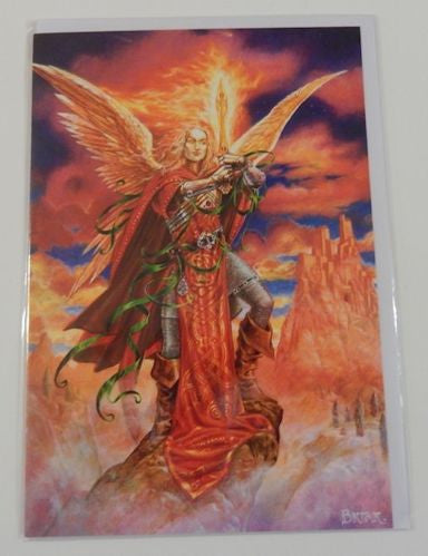 Archangel Michael Greeting Card - Angel Protector of All Kingdoms Michael Card by Briar