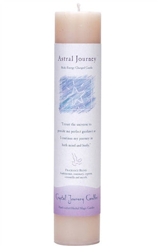 Astral Journey Reiki Candle - Crystal Journey CANDLES Magick Astral Journey Soul Travel 7 x 1.5 Pillar