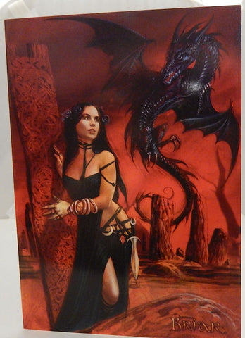 Bride of the Sabbat Greeting Card by Briar - Gothic Witch and Dark Dragon Goth Pagan