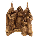 Brigid Celtic Sun Goddess Statue - Dryad Design Triple Goddess Brigit Statue in Wood or Stone Finish