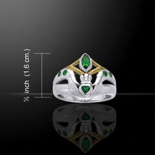 Celtic CLADDAGH Ring .925 Sterling Silver Gold vermeil Irish Claddagh Love Ring