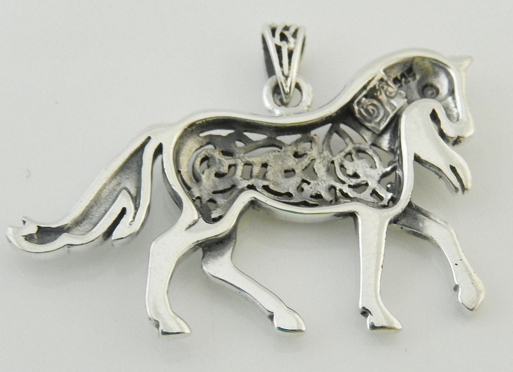 Celtic epona horse pendant in 925 sterling silver equine horse celtic epona horse pendant in 925 sterling silver equine horse goddess amulet with celtic mozeypictures Image collections