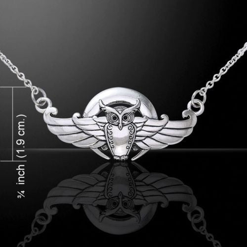 Celtic OWL Necklace Sterling Silver Owl Spirit Magick Hecate Occult Knowledge