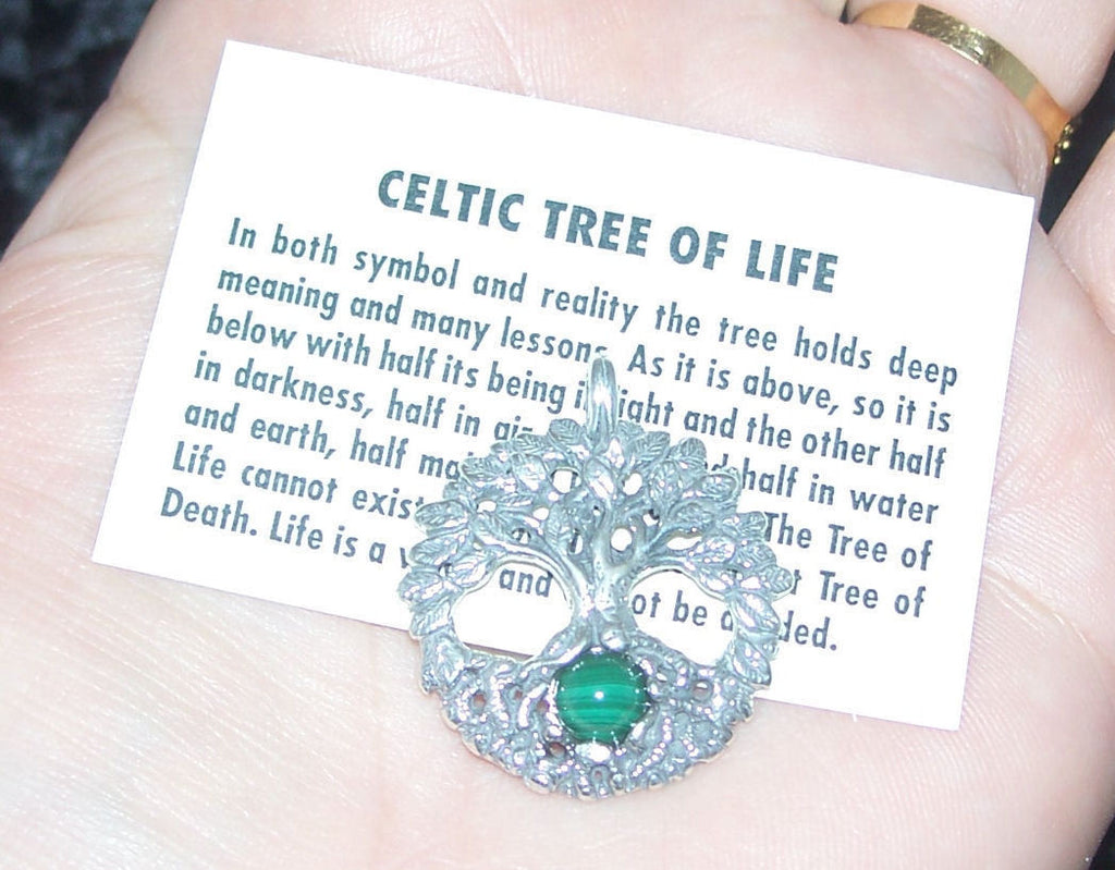 Celtic Tree Of Life Pendant In 925 Sterling Silver Druid