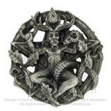 Cernunnos Belt Buckle - Dryad Design Horned God Belt Buckle - Wiccan Pagan Gundestrup Cauldron Pewter Buckle