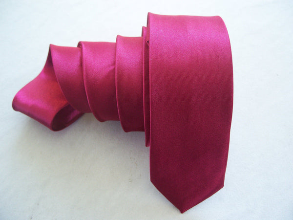 Cherry Red Tie Fashion Tie Solid Plain Slim Necktie Skinny Wedding Tie Hand Made New Fashion Neck Tie