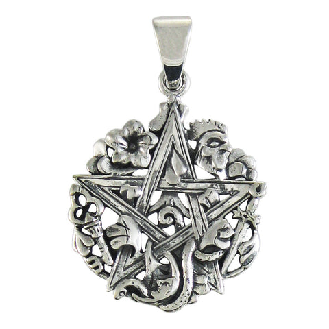 Cimaruta Pentacle Pendant in .925 Sterling Silver - Dryad Design Etruscan Magick Charm Amulet
