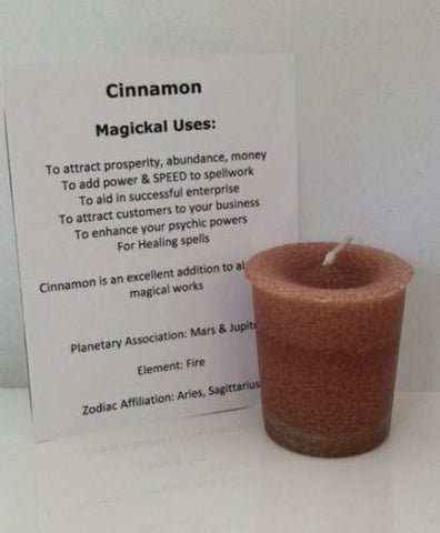 Cinnamon Candle Crystal Journey candles Votive candle for Speed Power Success Candle
