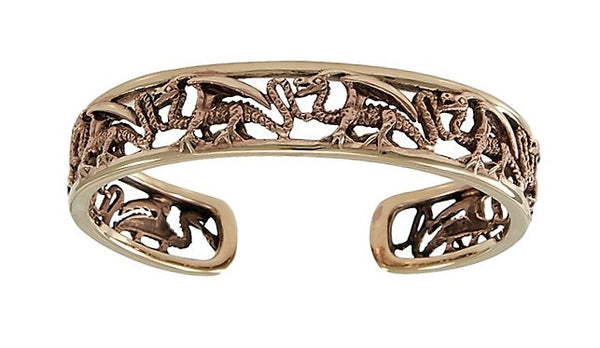 Dragon Guardian Bracelet in Copper - Dragon Magic - Strength and Good Fortune Open Adjustable Cuff bracelet