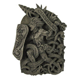 Cuchulain Wall Plaque by Dryad Design - Irish Celtic God Wicca Wiccan Pagan art in Wood or Stone look Finish