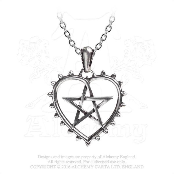 Cunning Heart Pentacle Necklace - Alchemy Gothic Witch's Talisman to Protect Love Pendant