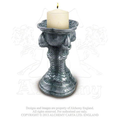 Gothic DRAGON Talon Pillar Candle Holder - ALCHEMY GOTHIC Bran's Talon Candle holder