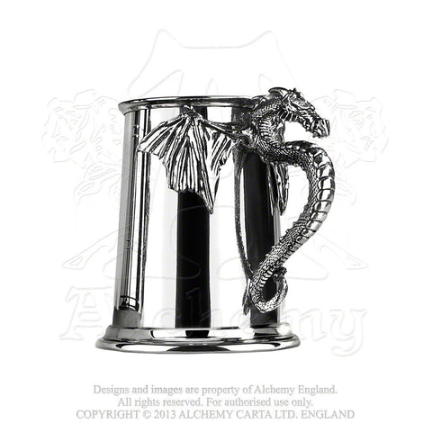 Dragon Tankard - Alchemy Gothic Pewter Dragon in Flight Tankard - Holds 1 pint