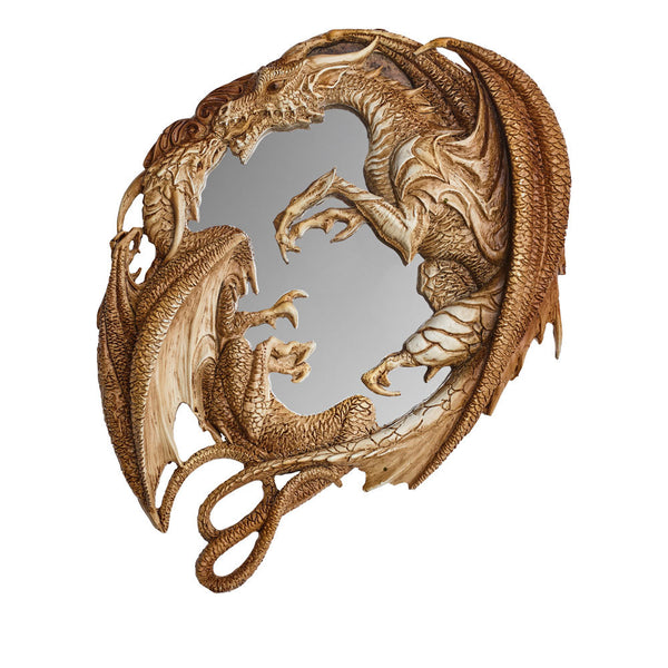 Morgan Theomachia Wall Mirror - Alchemy Gothic Dueling Dragons Mirror