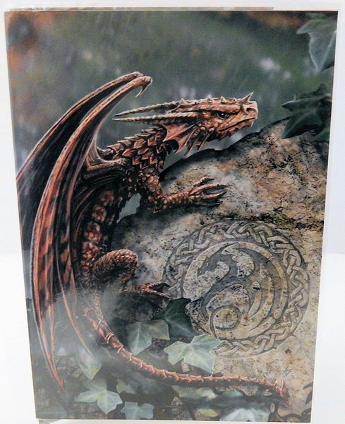 Dragon Greeting Card by Anne Stokes - Spiny Woodland Hopper Dragon Fantasy Magic Card