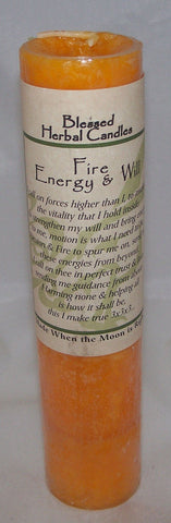 ENERGY Fire Will Candle Wiccan Pagan Coventry Creations Blessed Herbal Pillar