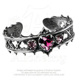 Elizabethan Alchemy Gothic Cuff Bracelet - Dark LOVE HEART Lord Dudley's Devotion adjustable bracelet