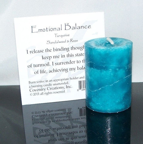 Emotional balance Water Candle - Coventry Creations Blessed Herbal Emotional Balance votive