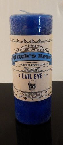 Evil Eye Candle for Protection - Coventry Creations Witches Brew Pillar candle