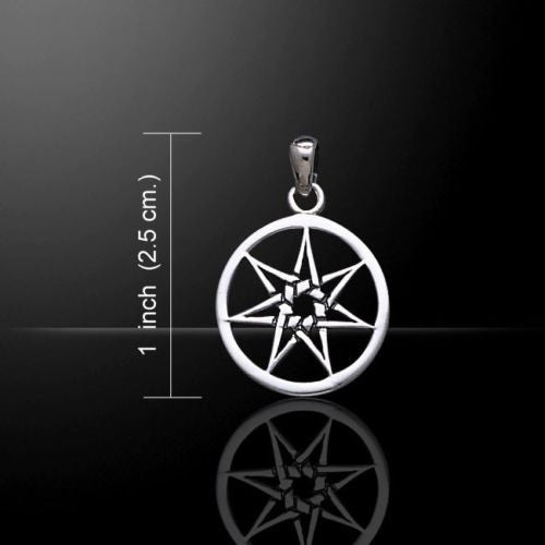FAERY STAR Elven Pendant .925 S SILVER Heptagram Fae Elf Magick Pagan small star