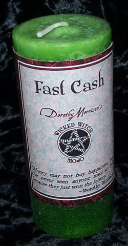 FAST CASH Money Candle MOJO Coventry Creations Wicked Witch Wiccan Pagan magick Candle