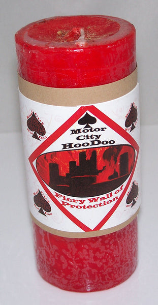 FIERY Wall of Protection CANDLE COVENTRY Creations Hoo Doo Wiccan Pagan Magic