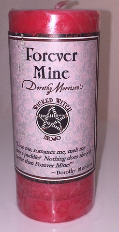 Forever Mine MOJO Candle Coventry Creations Wicked Witch Love Romance Magick Pillar