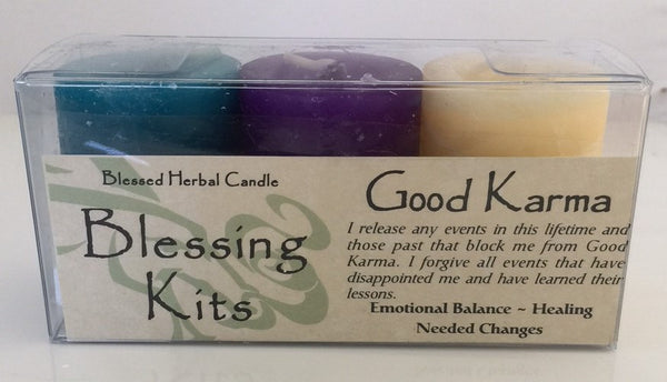 Good Karma Candles - Coventry Creations BLESSING KIT Magick Wicca Pagan votives