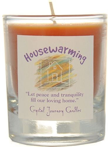 HOUSEWARMING Reiki Herbal Magic SOY Candle Crystal Journey Candles glass votive