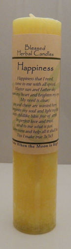 HAPPINESS Sun Energy Candle - Coventry Creations Blessed Herbal Pillar Pagan Wicca Magick