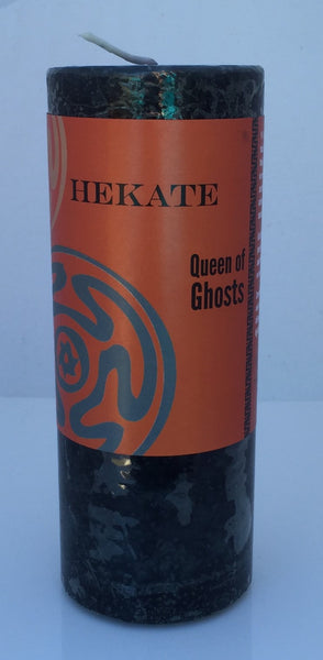 Hekate Candle Coventry Creations Hecate Queen of Witches and Ghosts Crossroads pillar