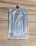 HIGH PRIESTESS Tarot Card Pendant .925 Sterling Silver with Genuine Rainbow Moonstone gemstone