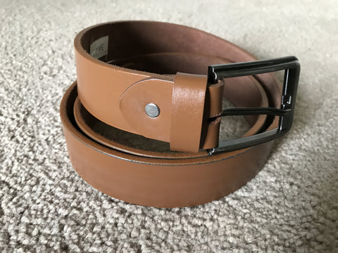 Men's Waistband Belt Handmade Genuine Leather Suede belt Brown Pin Buckle Real Leather Belt