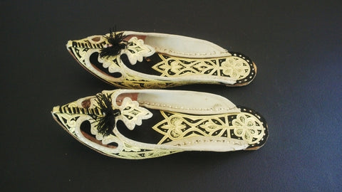 Embroidery Khussa Leather Fancy Sandal Indian Tradtional Jutti Khusa Majori Sandal Ethnic Shoe Size 9