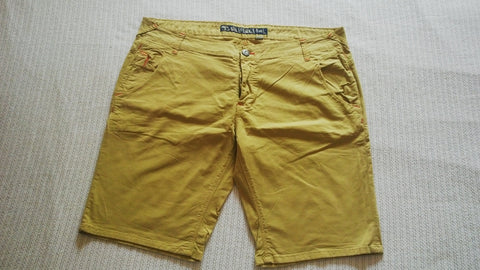 "Cotton Shorts Bermuda Size 40"" inseam 11"" Malefemale-F&L Five Pocket Button Fly"