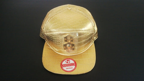 Men's Cap Snapback Hat Golden Adjustable Hip Hop Unisex Headwear Landtaylor Cap