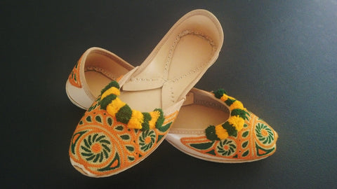 Fancy Khusa Indian/Pakistani Bridal Sandal Hand Made Ethnic Khussa Juti Size 8.5 Khusa Leather Khusa Wedding Shoe Sandal