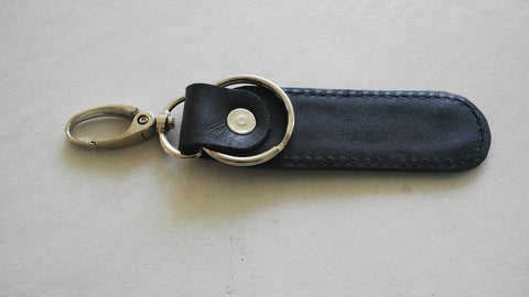 Car Leather Key Chain Key Rings Genuine Real Leather Keychain Handmade Black Key Chain