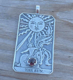 Sterling Silver Sun Tarot Card Jewelry