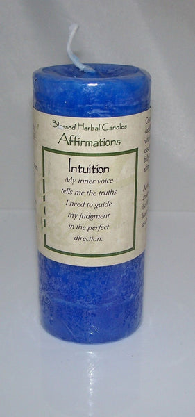 INTUITION Affirmation CANDLE Wiccan Pagan Magick COVENTRY Creations candle