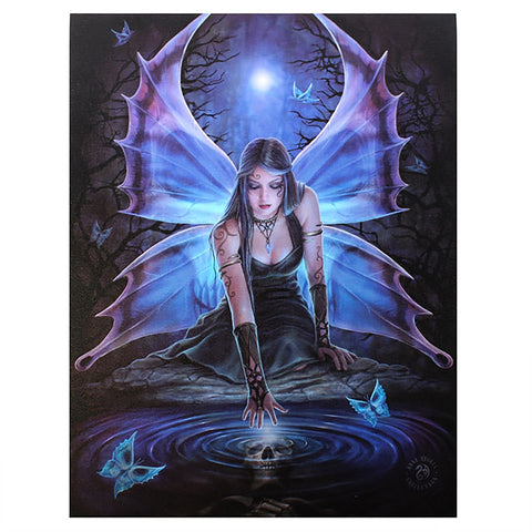 Immortal Flight Wall Plaque Art Print Anne Stokes Fairy with Butterflies