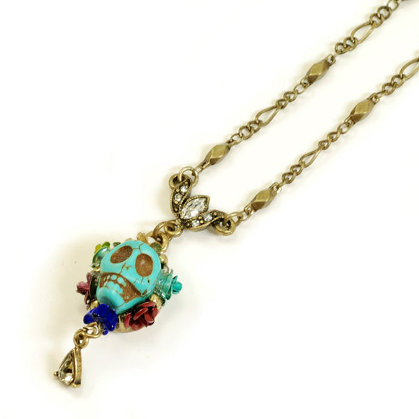 Turquoise SKULL QUEEN Necklace SWEET ROMANCE Ollipop SKULL Day of the DEAD