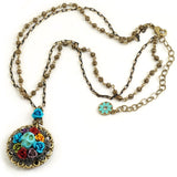 Turquoise SKULL WREATH Necklace SWEET ROMANCE Ollipop SKULL Day of the DEAD