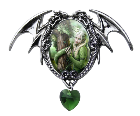 Kindred Spirits Dragon Cameo Necklace Anne Stokes