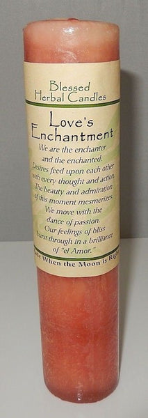 LOVES Enchantment CANDLE PASSION - Desire Wiccan Pagan Coventry Creations Magick