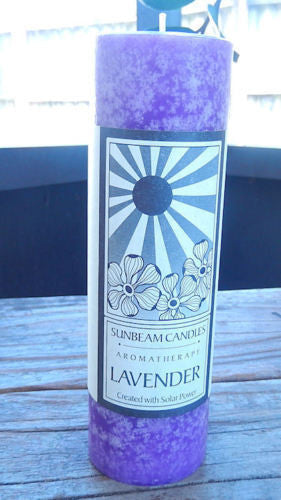 Lavender Palm wax blend Candle SUNBEAM CANDLES 2 x 6 Stress Relief Aromatherapy