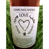 Love Candle 100% Pure Beeswax Sunbeam Candles Gift of Love Red Bees Wax Candle