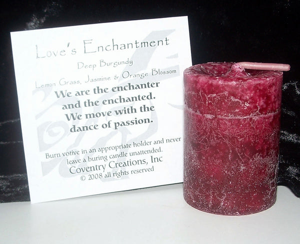 Love's Enchantment Candle Coventry Creations Blessed Herbal Love votive  Wiccan Pagan magick